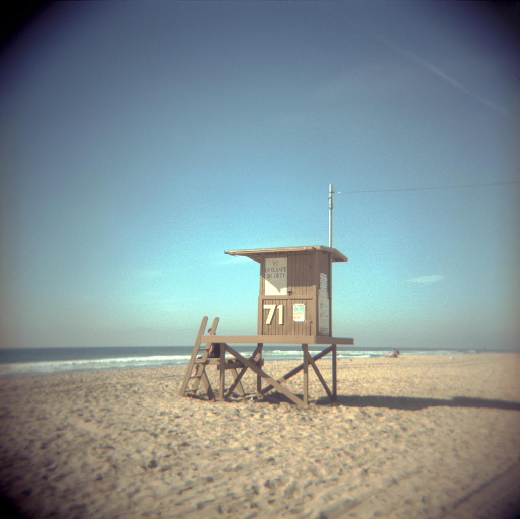 Lifeguard Station, Newport Beach , 2016   C-print from 35 mm slide  25.4 x 25.4 cm., ed. of 7 + AP  £620  [Ref. MJF1]