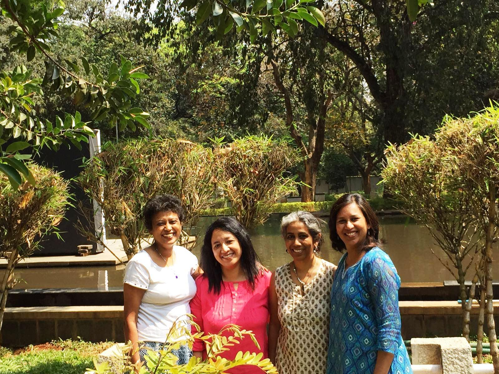 L to R: Swasthika, Faustina, Anita and Shabari make up Team Anekataa.