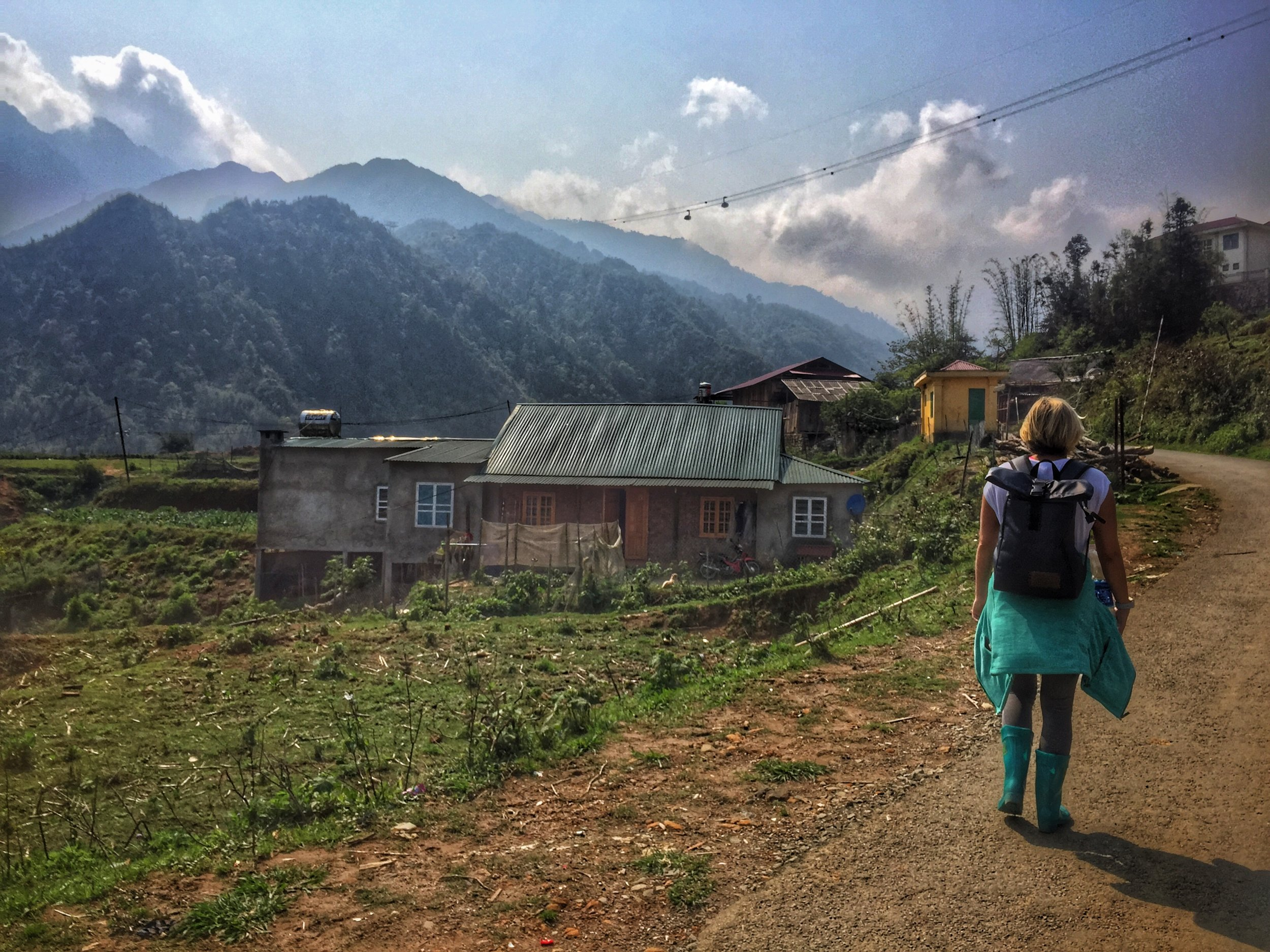 Exploring local villages around Sapa on foot was an adventure!