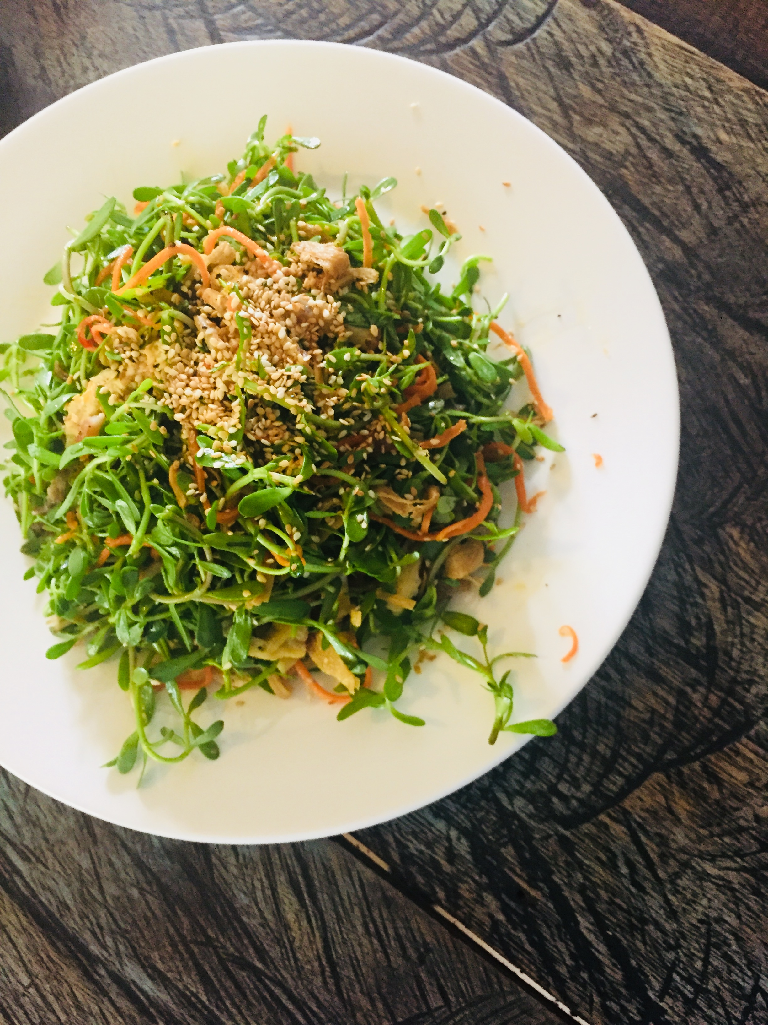 Knot grass salad from Quan Chay Am restaurant, Hoi An