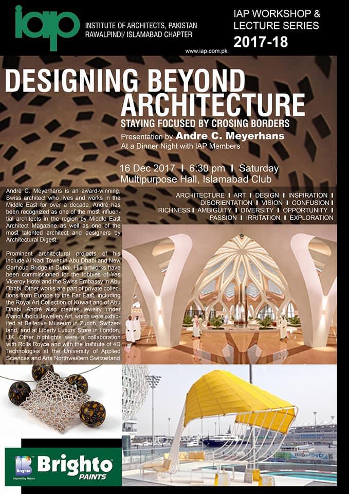 Andre Meyerhans designing beyond architecture