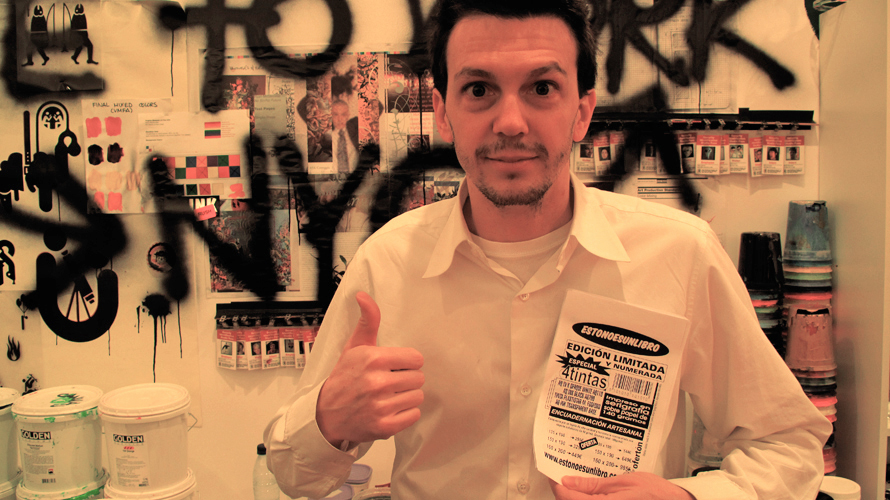 Ryan McGuinness     supporting the project during   'Studio Franchise' · La Casa Encendida Madrid 2010