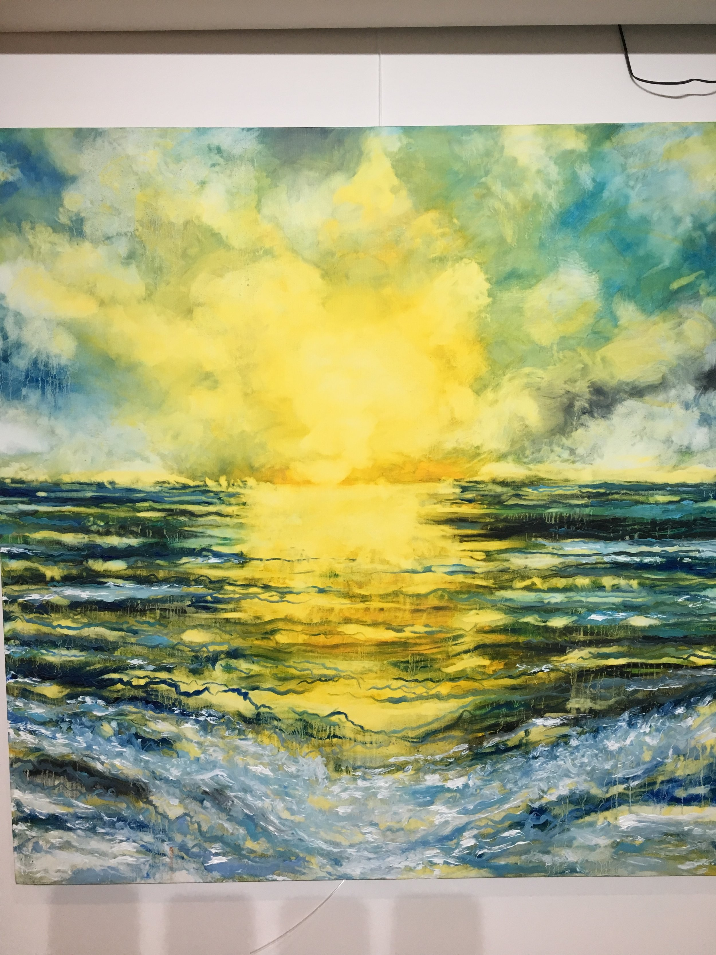 Light at the end - oil on canvas - for sale