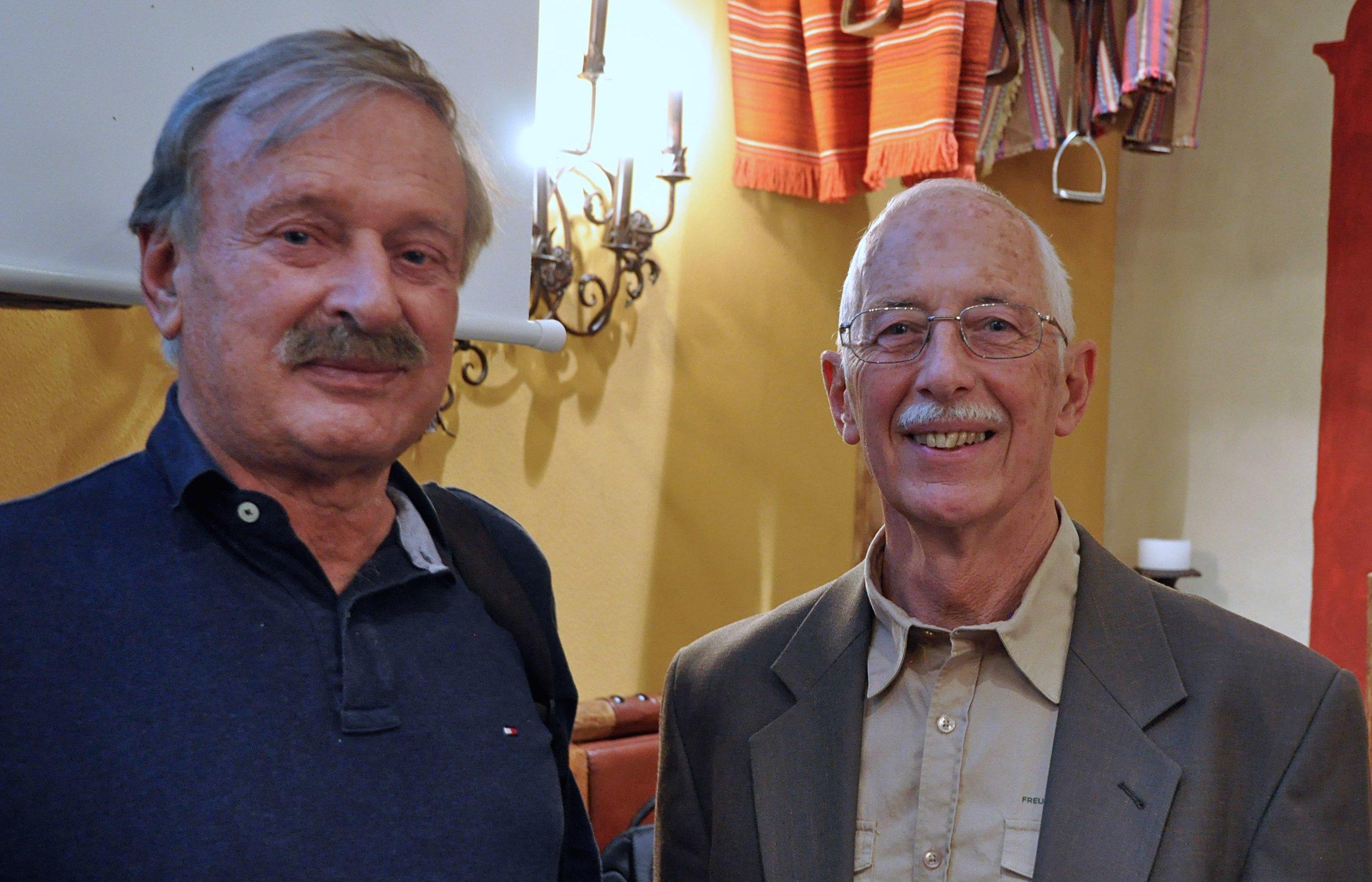 Filmer Karl Ammann und FSS-Präsident Adrian Schläpfer |  © Foto by R.Suter