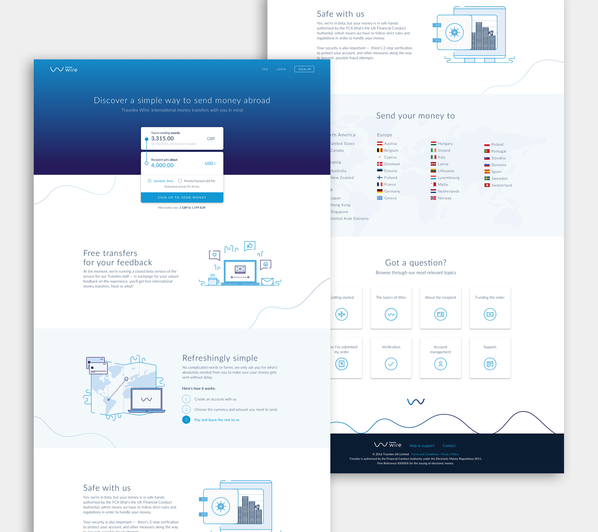 Wire landing page - Domingo Widen