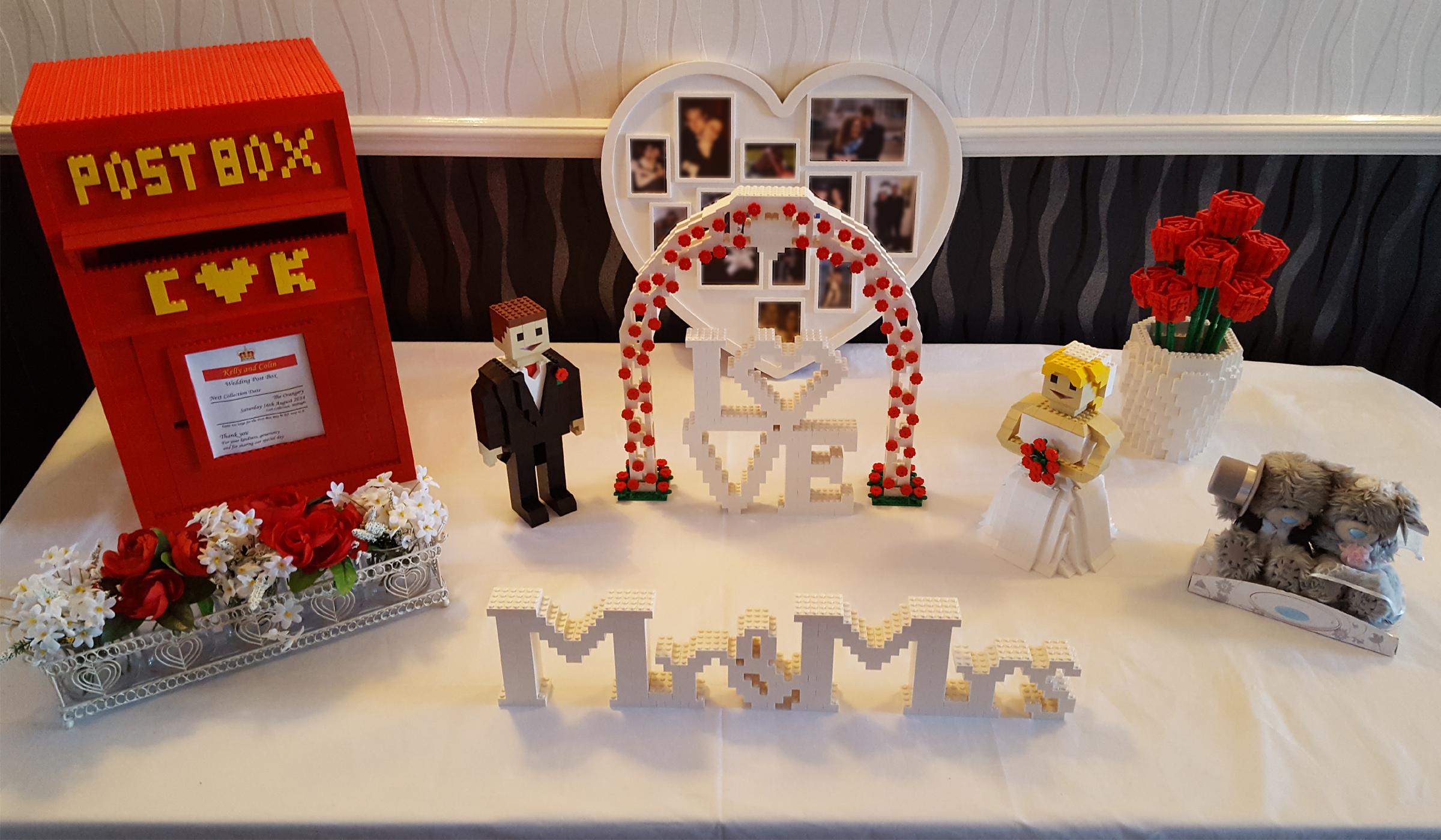 lego wedding figures reception