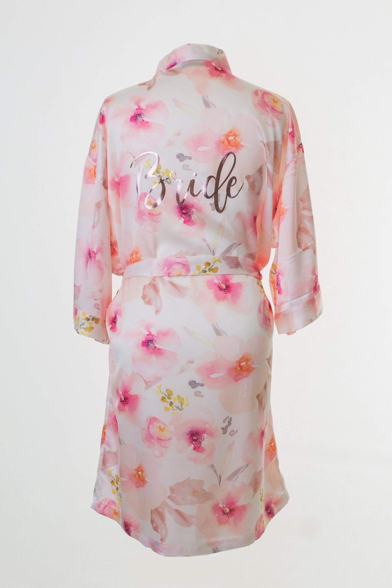 Personalised bridal clothes - Get you and your girls the perfect gift for your wedding morning with beautifully designed and uniquely personalised dressing gowns! Why not print their name on the front and bridesmaid on the back? Plus you choose the font colour too!
