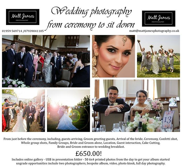 Our #weddingphotographer @mattjamesphoto is offering a HUGE deal right now! You can now get all of your #wedding photographed for only £650! Don't miss out, this is a massive bargain! . . . . . . . #weddinginspiration #weddingideas #weddingplanner #weddingplanning #weddinginspo #weddingphotography #instawedding #weddingstyle #weddingphotographer #weddingdecor #weddingdetails #destinationwedding #luxurywedding #weddingflowers #weddingday #dreamwedding #ido #bridalinspo #weddingdress #weddinggown #gettingmarried #bride #luxuryweddings #bridetobe #weddings #instawed #weddingphoto #engaged
