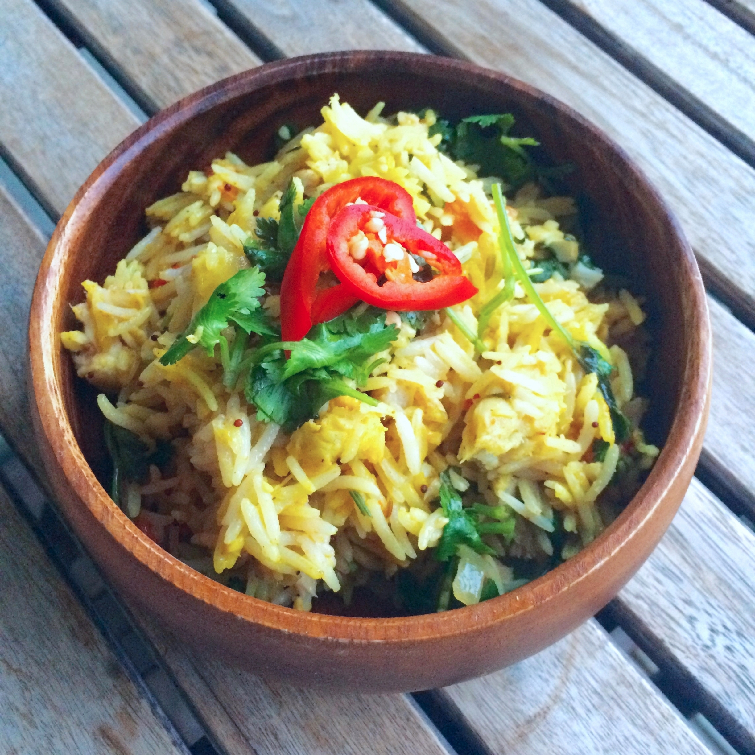 Indian Tomato Rice with Fish