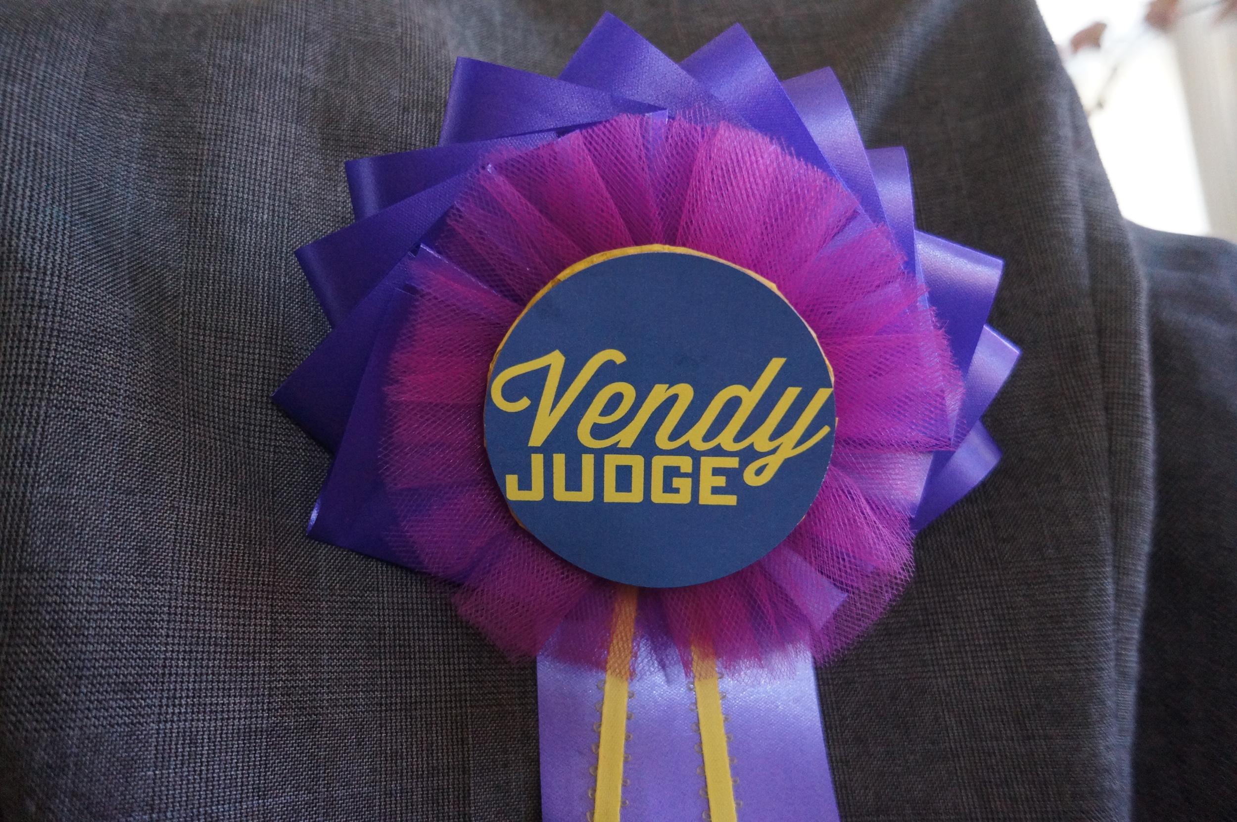 Judge badges for Vendy Awards 2014