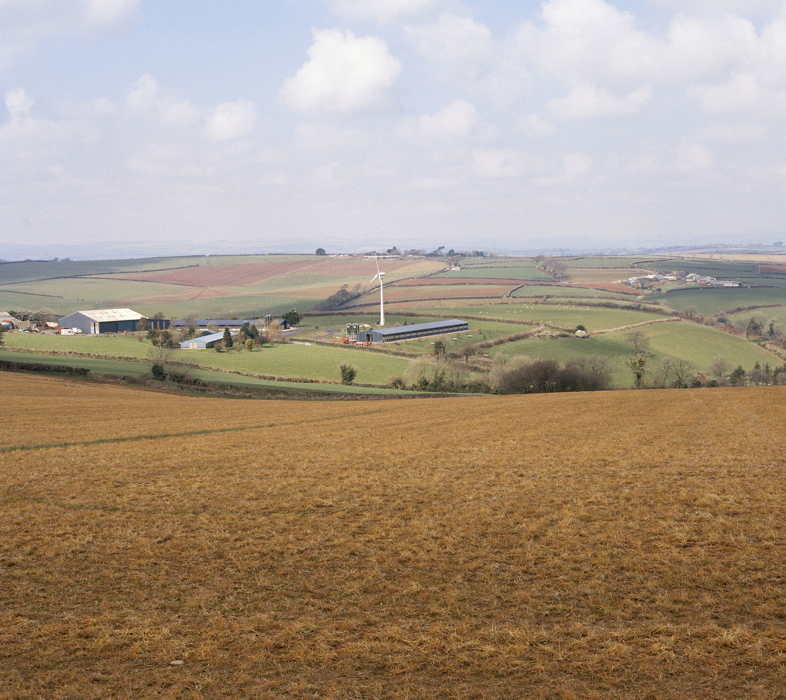A landscape of Hembrough Farm. Hembrough Farm is owned by western rider Brian Rowden who runs his rodeo events there.