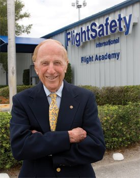 Captain Al Ueltschi. Founder of FlightSafety and my hero.