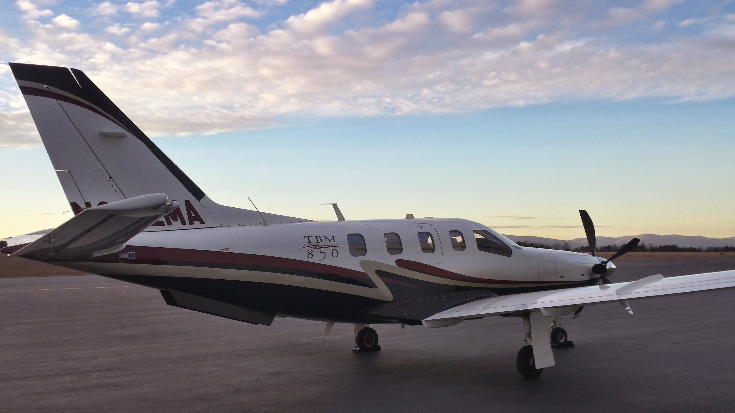 Get where you need to be- Fast! - The TBM 850 can carry five adults in quiet, air-conditioned comfort, climb to 31,000 ft in as little as 20 minutes, fly for over 1,200 nm with NBAA IFR reserves and then slip into a 3,000 ft strip or a mountain runway.