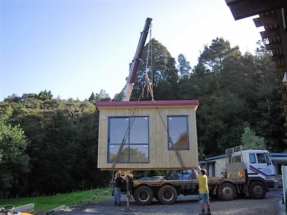 The new cabin arrives.jpg