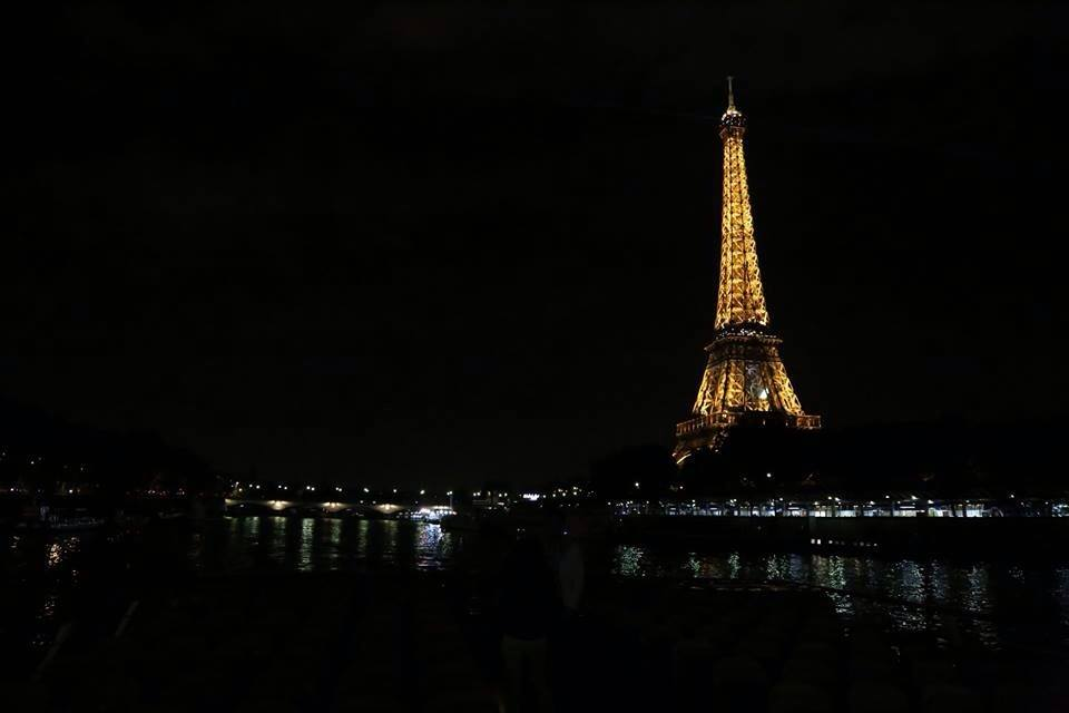 Captured this image while on a midnight boat ride in Paris, June 2014.