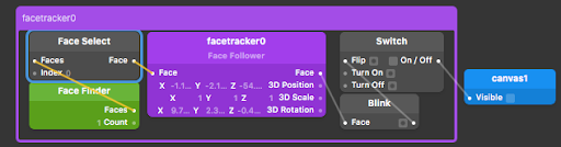 An image of the Patch Editor used to make the blinking controls