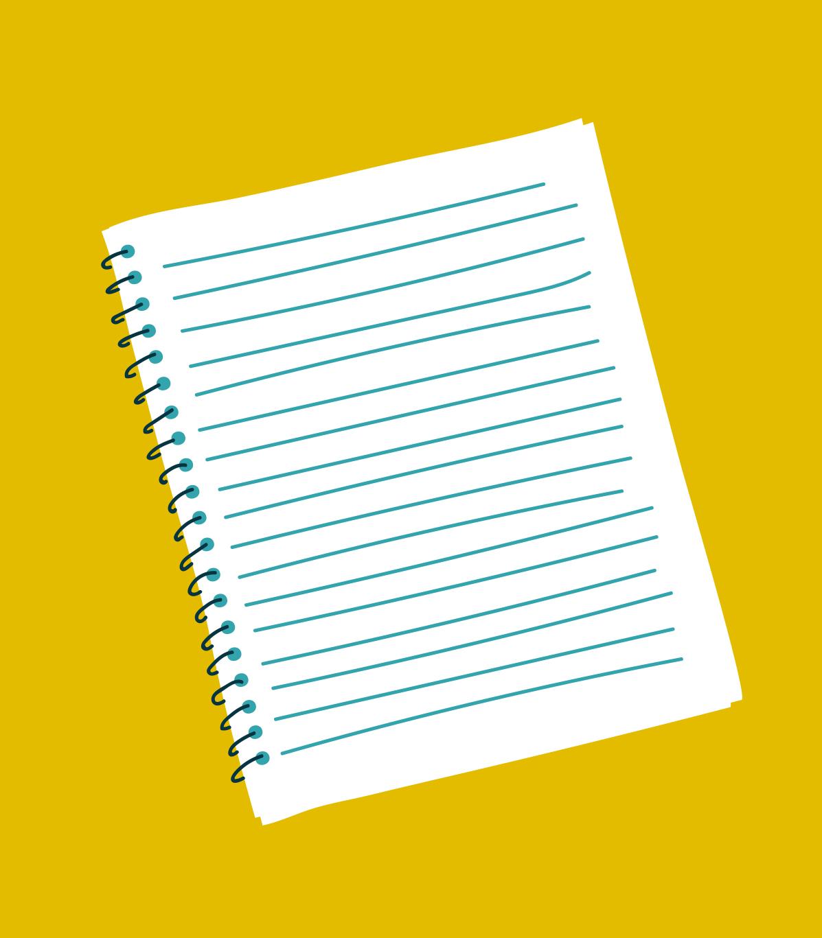 41. a fresh, new notebook  (clark g)