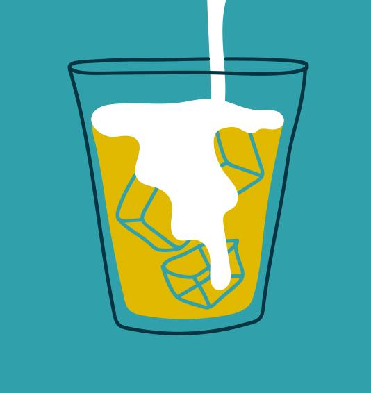 70. watching milk slowly trickle down a cold brew coffee  (lauren m)