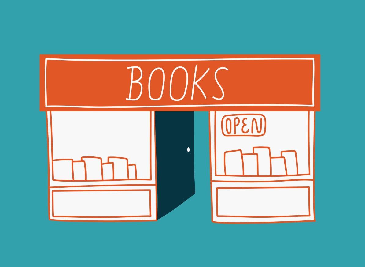 86. sunday morning bookstore browsing