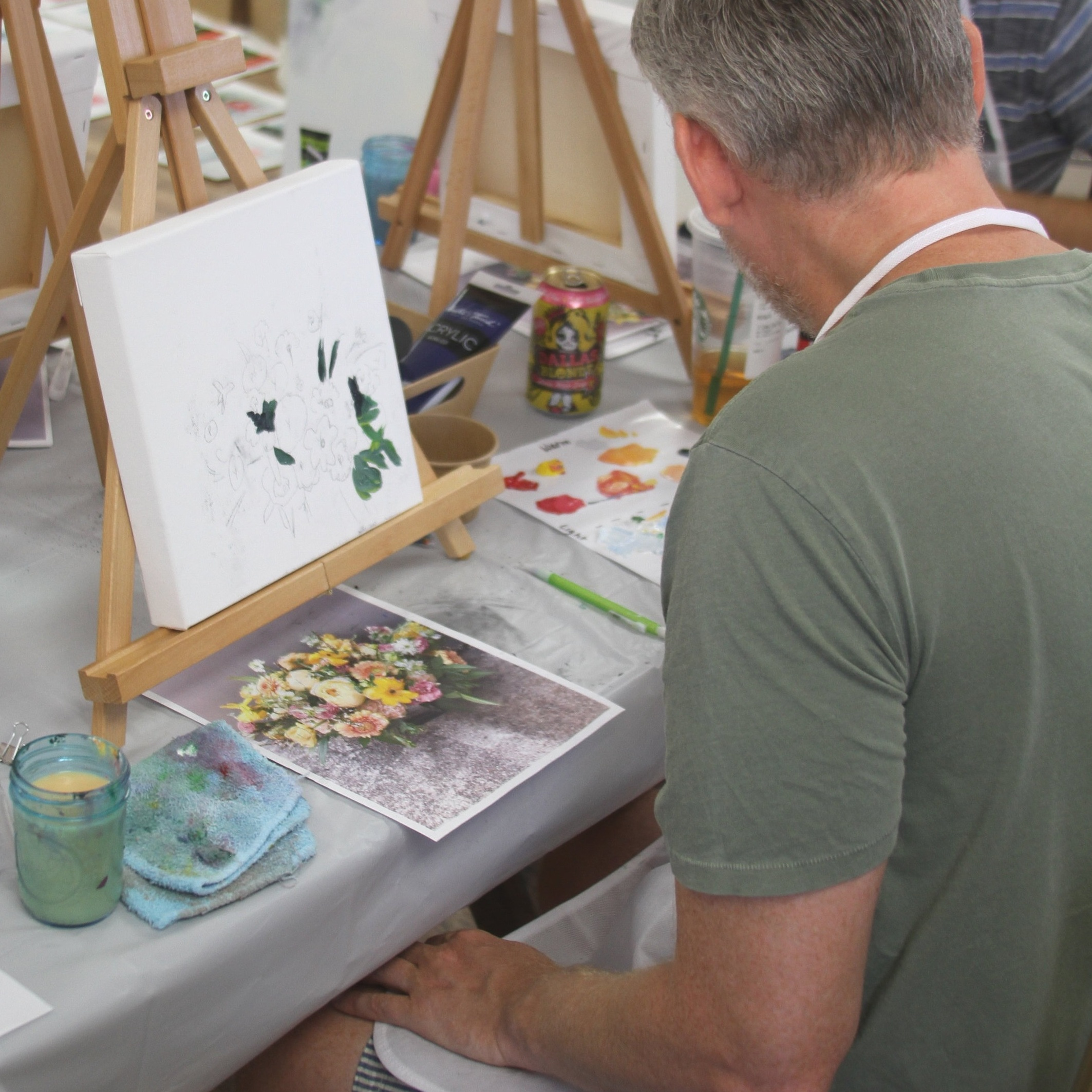Your Workshop - Learn composition, value, color theory, and painting techniques. Create workbook studies and impressionistic paintings!Be confident to start your own studio (or, just have a super fun afternoon).