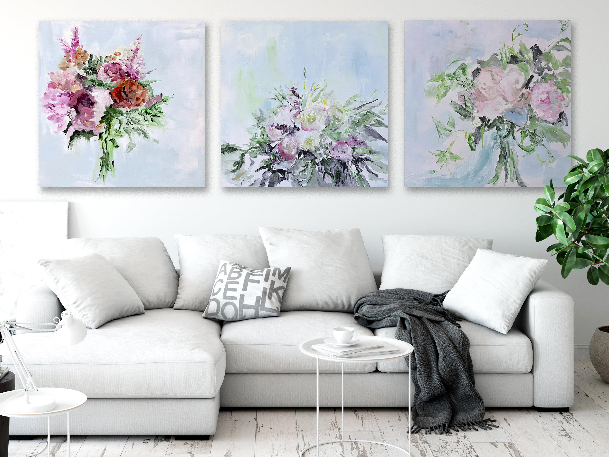 5 petal project large patintings.jpg