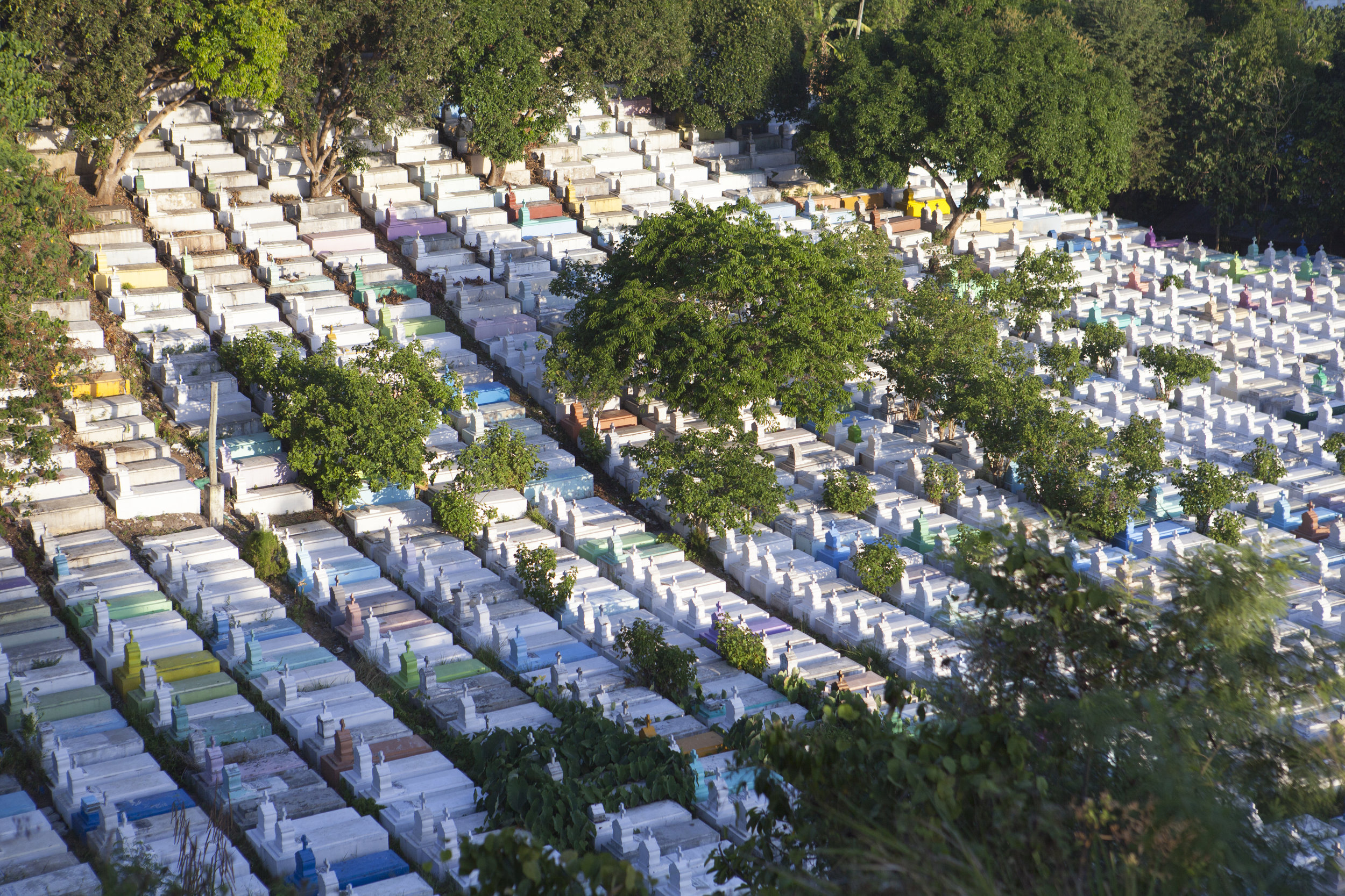 Aerial View of Wireless Cemetery