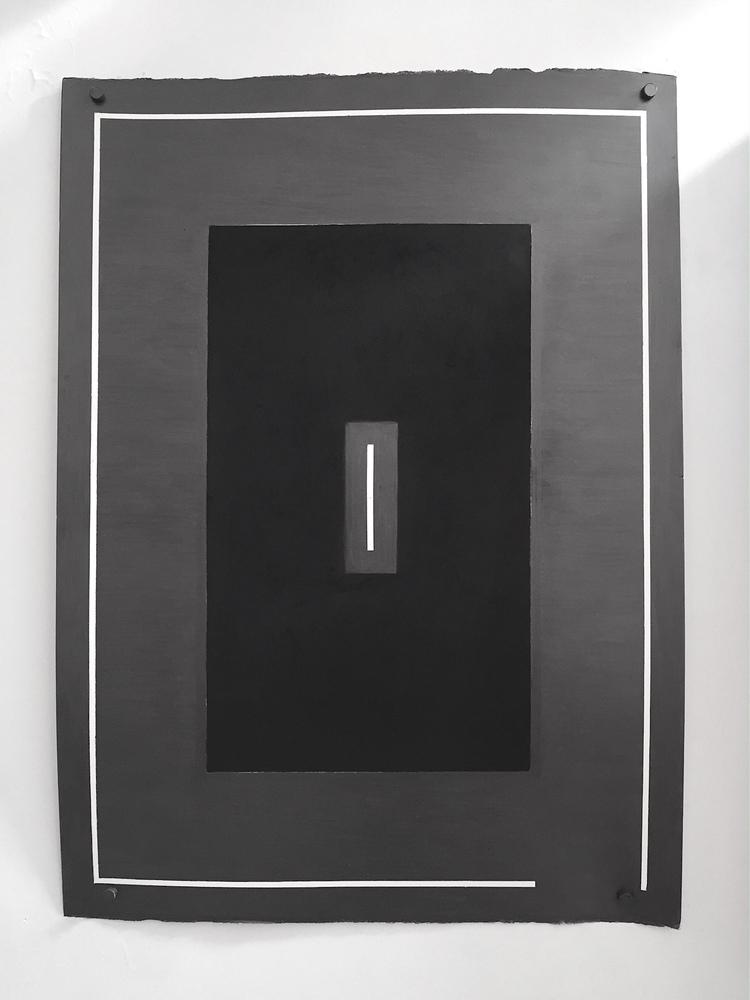 ESPALDA   Grafito y carbon sobre papel algodón 680g. 70 x 50 cm 2015.   Dibujo concreto.