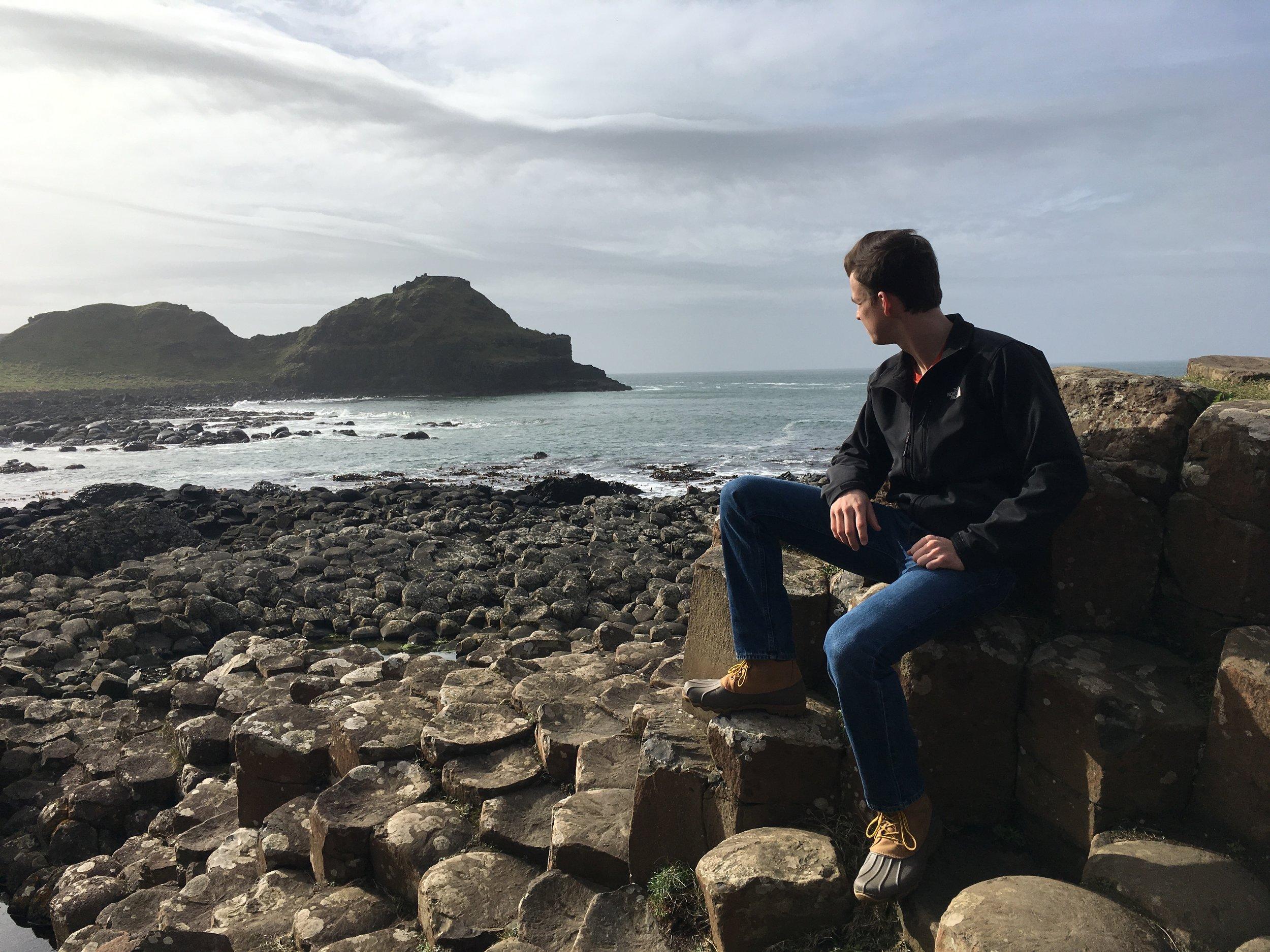 Daniel during the Choir Tour trip to Ireland in 2017.