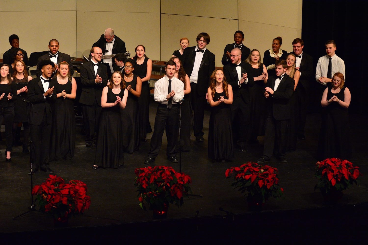 Damian (third row, middle) during a Chorale performance.