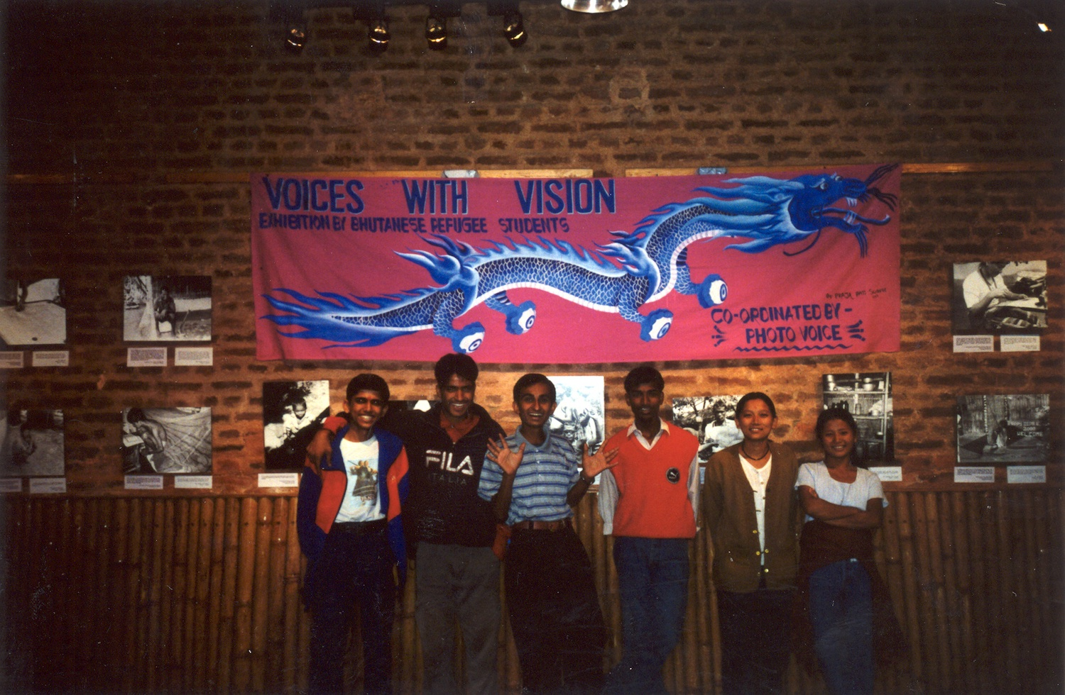 Project participants at an exhibition in Kathmandu. 2002.