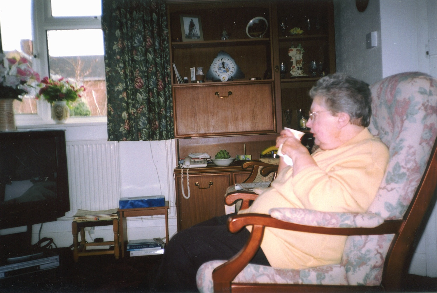 This is my Mum. It is a contented and peaceful photo. My Mum has coped with a lot. Her first husband was killed in the war and my father suffered with a mental illness. My mother cared for me and then for me when I was ill. I need support but what about care for the carer?  (c) Terry / United Response / PhotoVoice