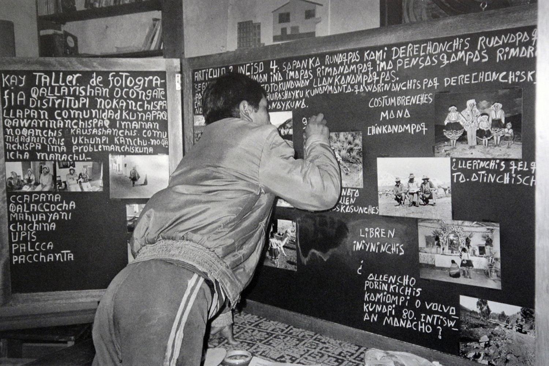 Serapio Verduzco / Periódico mural communal sobre derechos humanos, Ccapana / Ccuhuayo, Cusco, 1987. © TAFOS