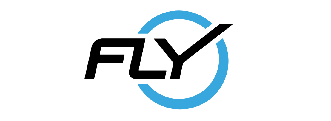 "The core ""FLY"" logo from the Flywheel Sports main website."
