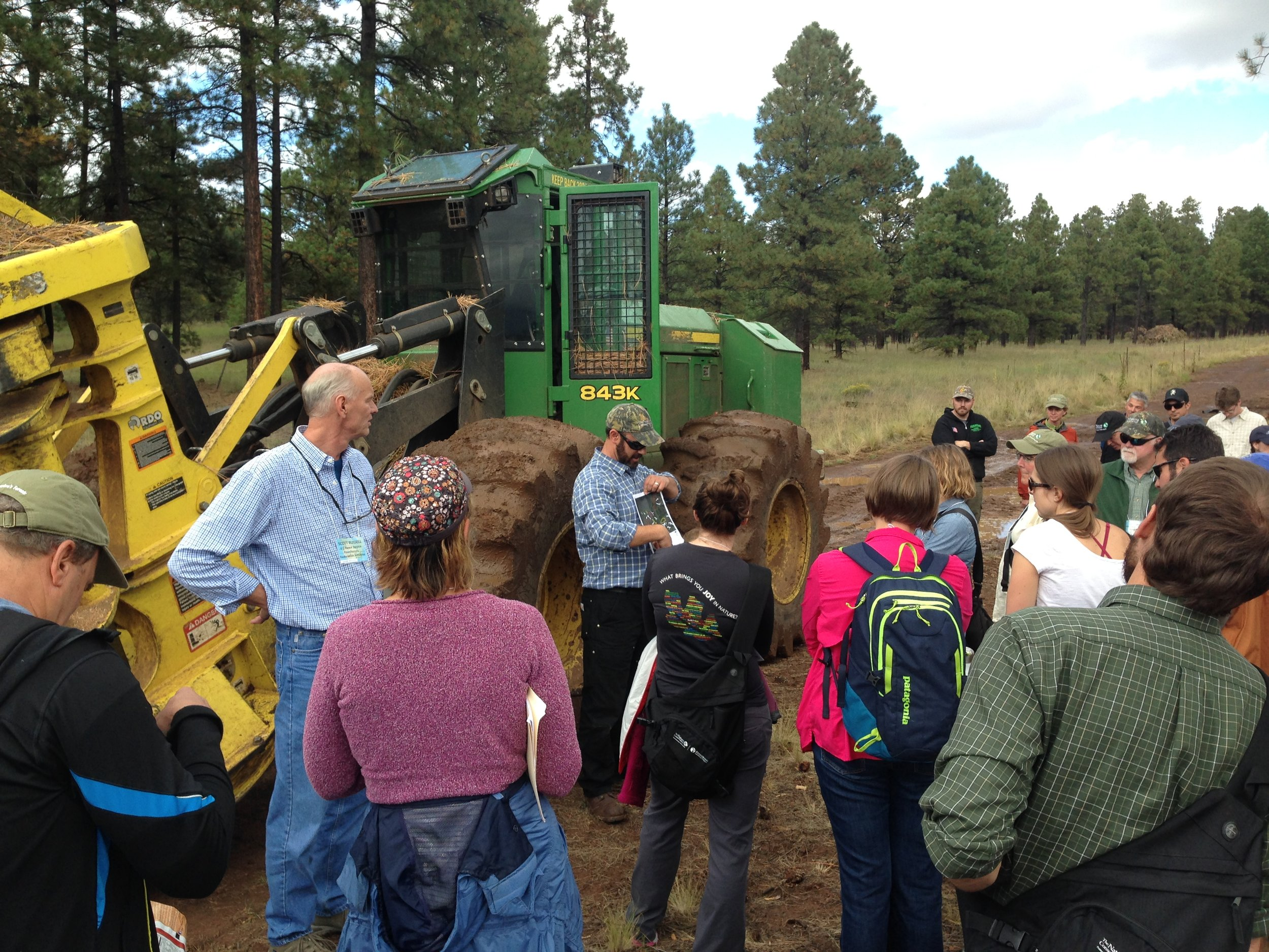 Neil Chapman (TNC- Arizona) describing a forest thinning project using the in-cab technology.