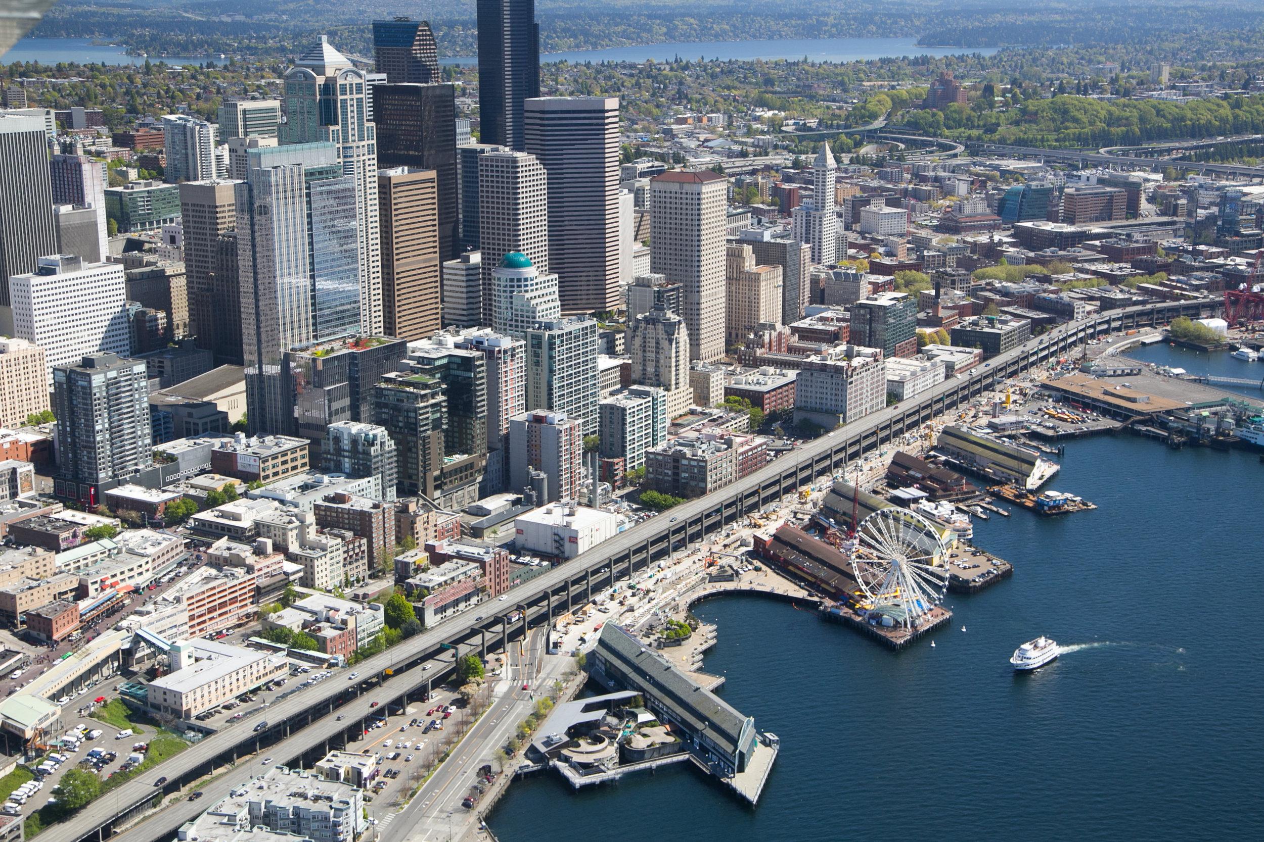 The Seattle skyline © John Marshall