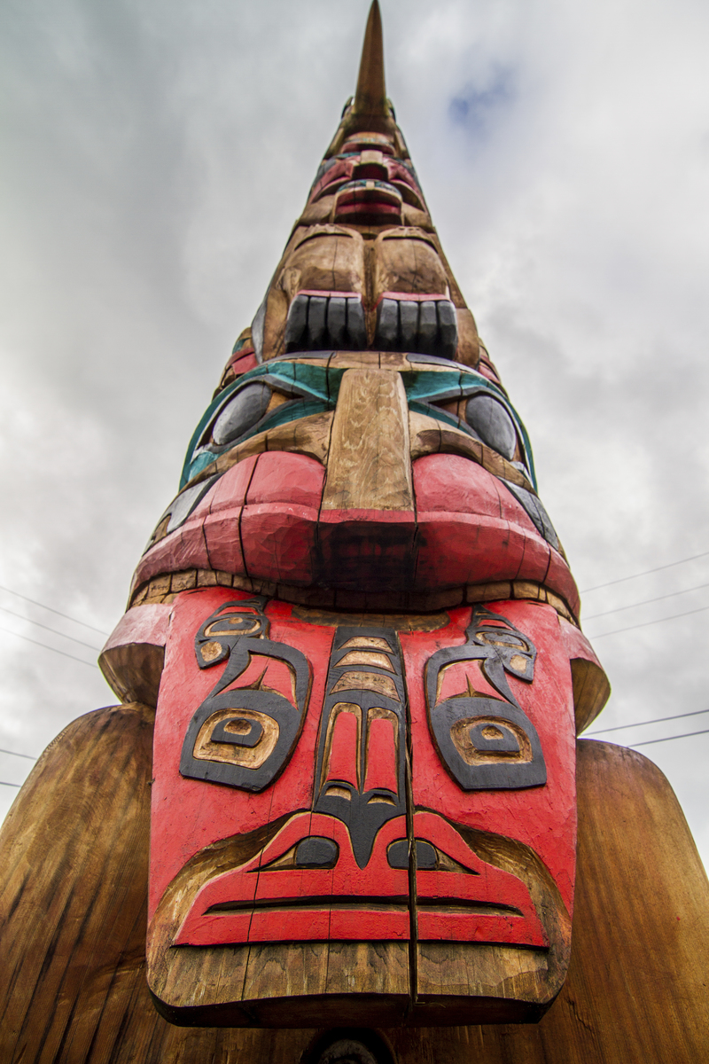 The Hydaburg Totem Park, established in 1939, preserves the totemic art of Pacific Northwest Haida people. Photo by Erika Nortemann/TNC