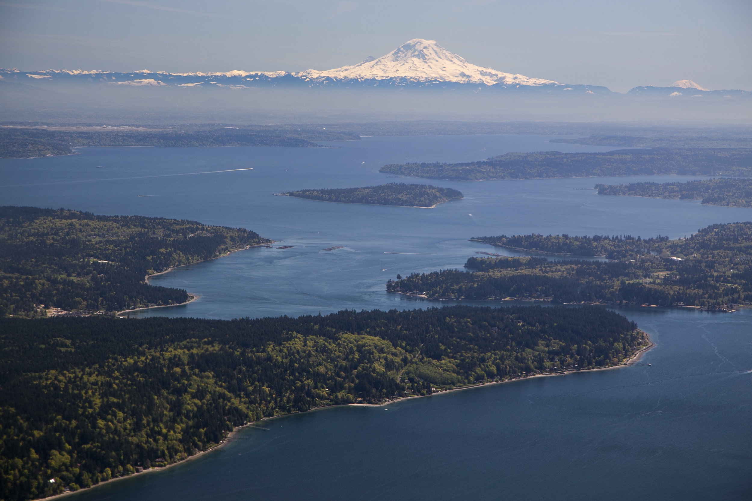 Bird's eye view of Puget Sound.Photo ©John Marshall.