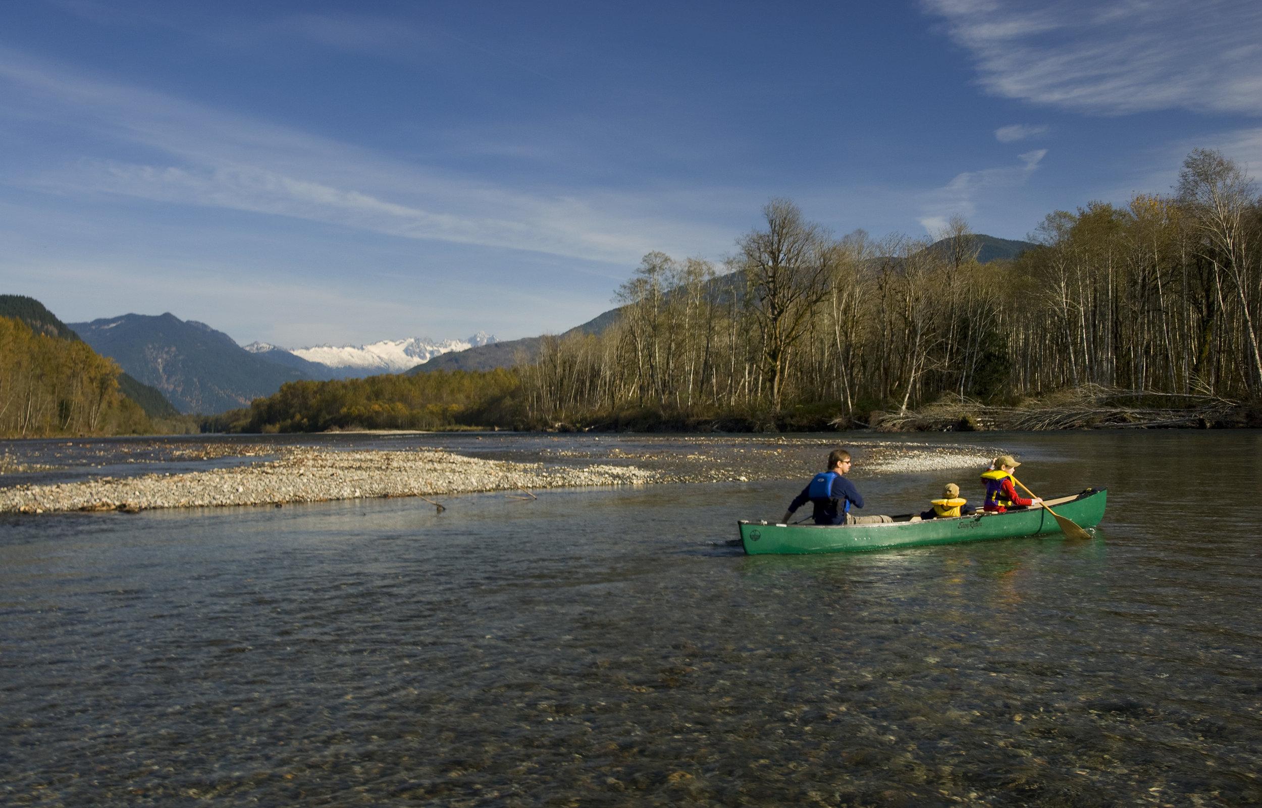 Canoeing on the Upper Skagit River. Photo ©Bridget Besaw.