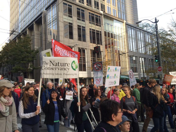 From the People's Climate March in Seattle in 2015. Photo © TNC