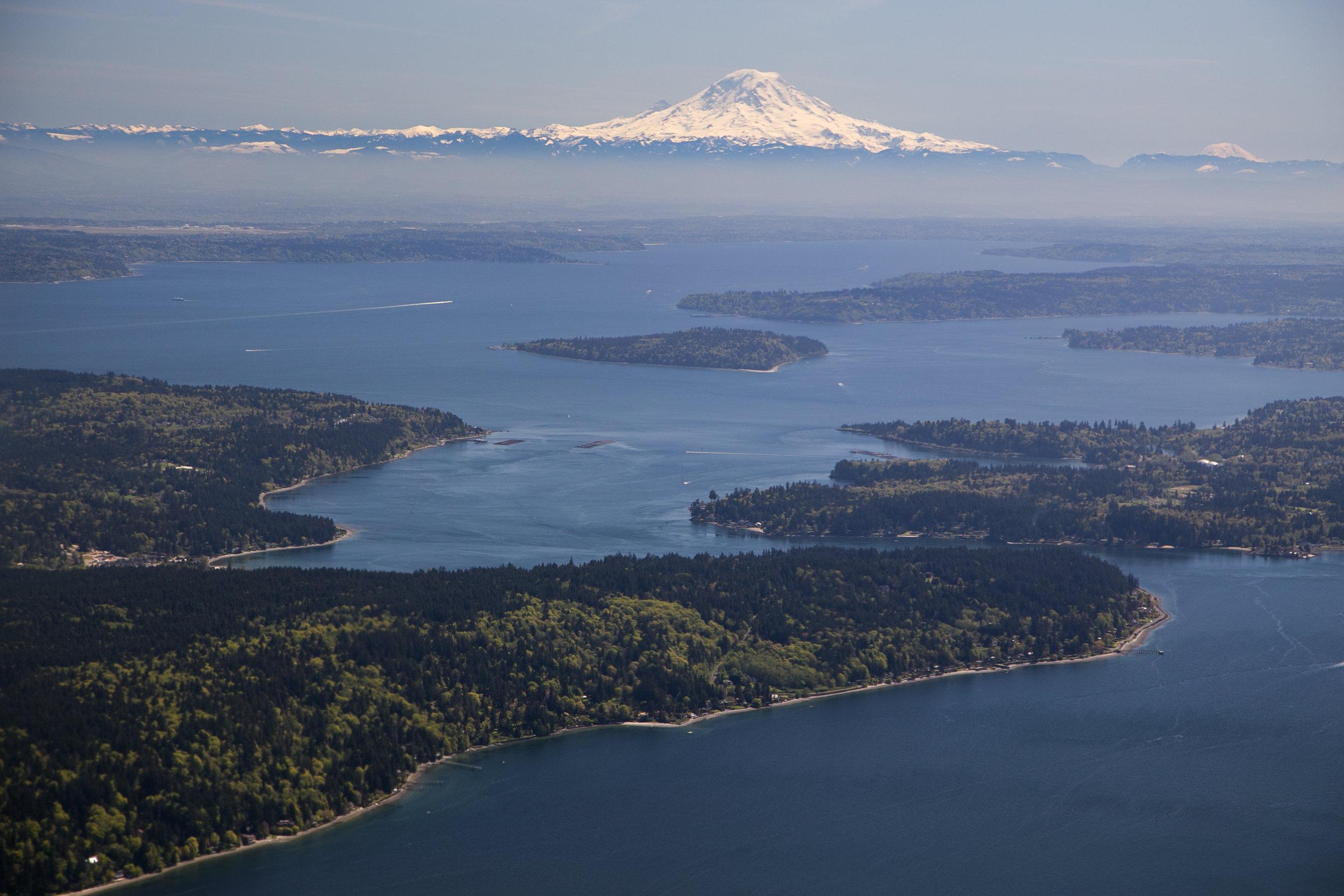 Bird's eye view of Puget Sound. Photo by John Marshall.