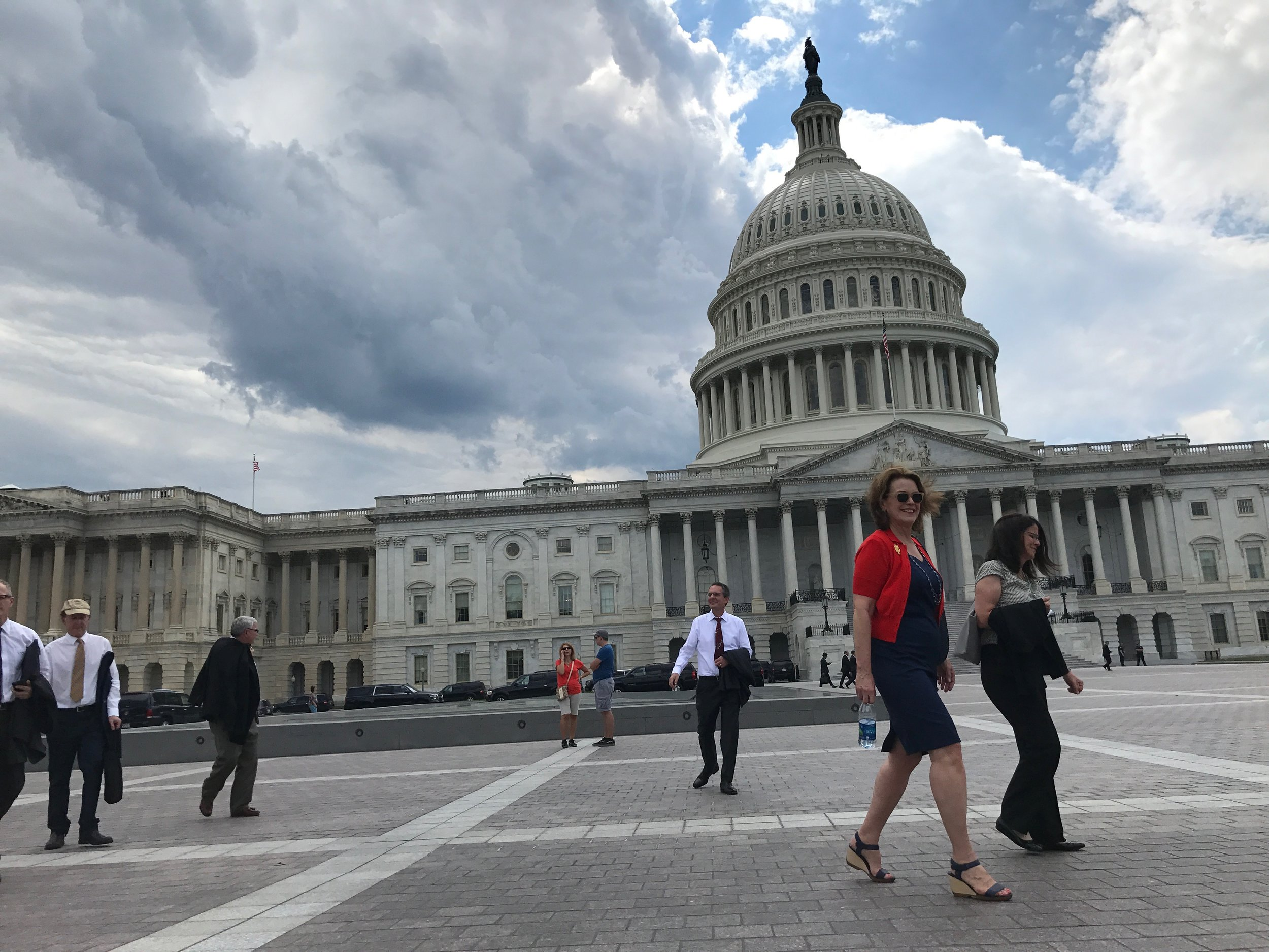 Our meetings were held on either side of the Capitol building, meaning we did a lot of walking back and forth! © TNC