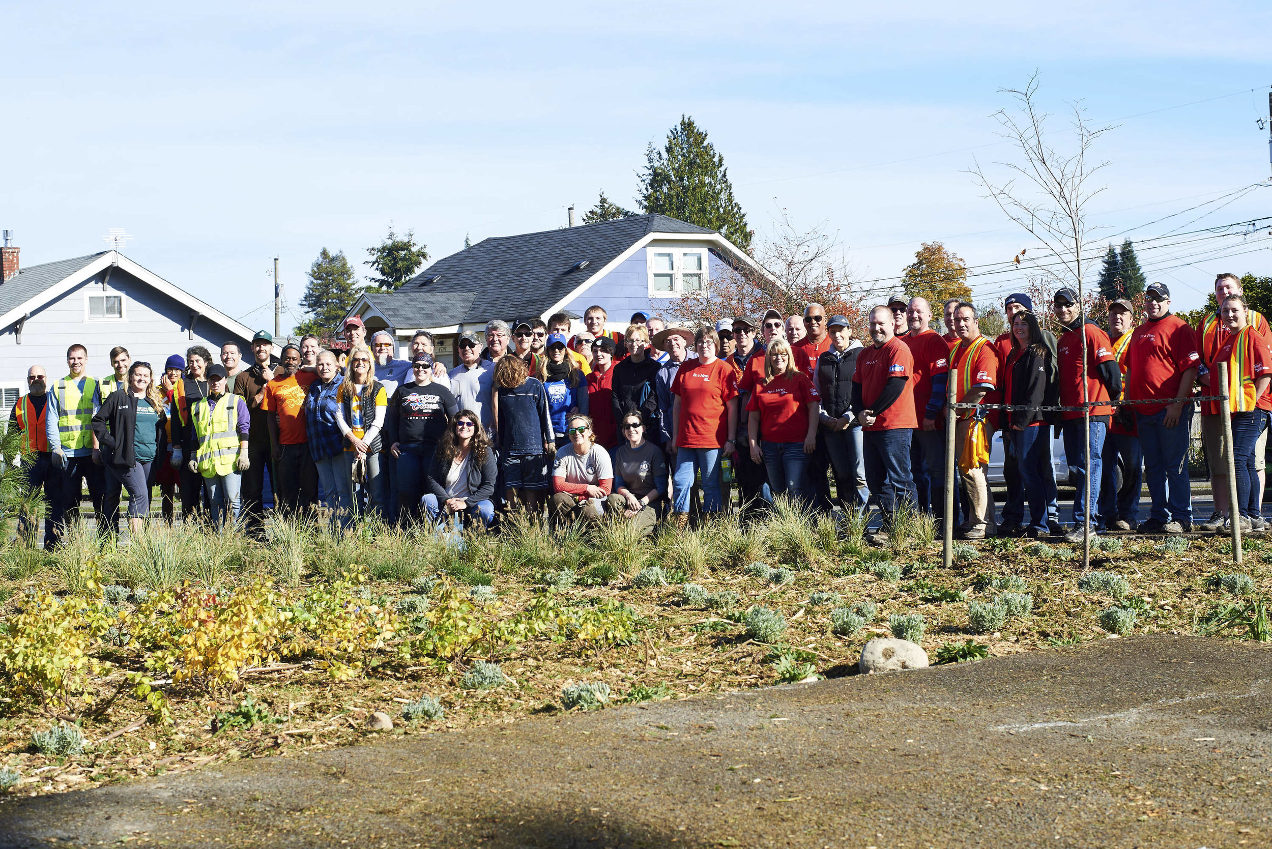 Our success depends on deep and lasting relationships with diverse communities across our state. Pictured are volunteers during Make a Difference Day, October 2016. Photo ©Michael B Maine.