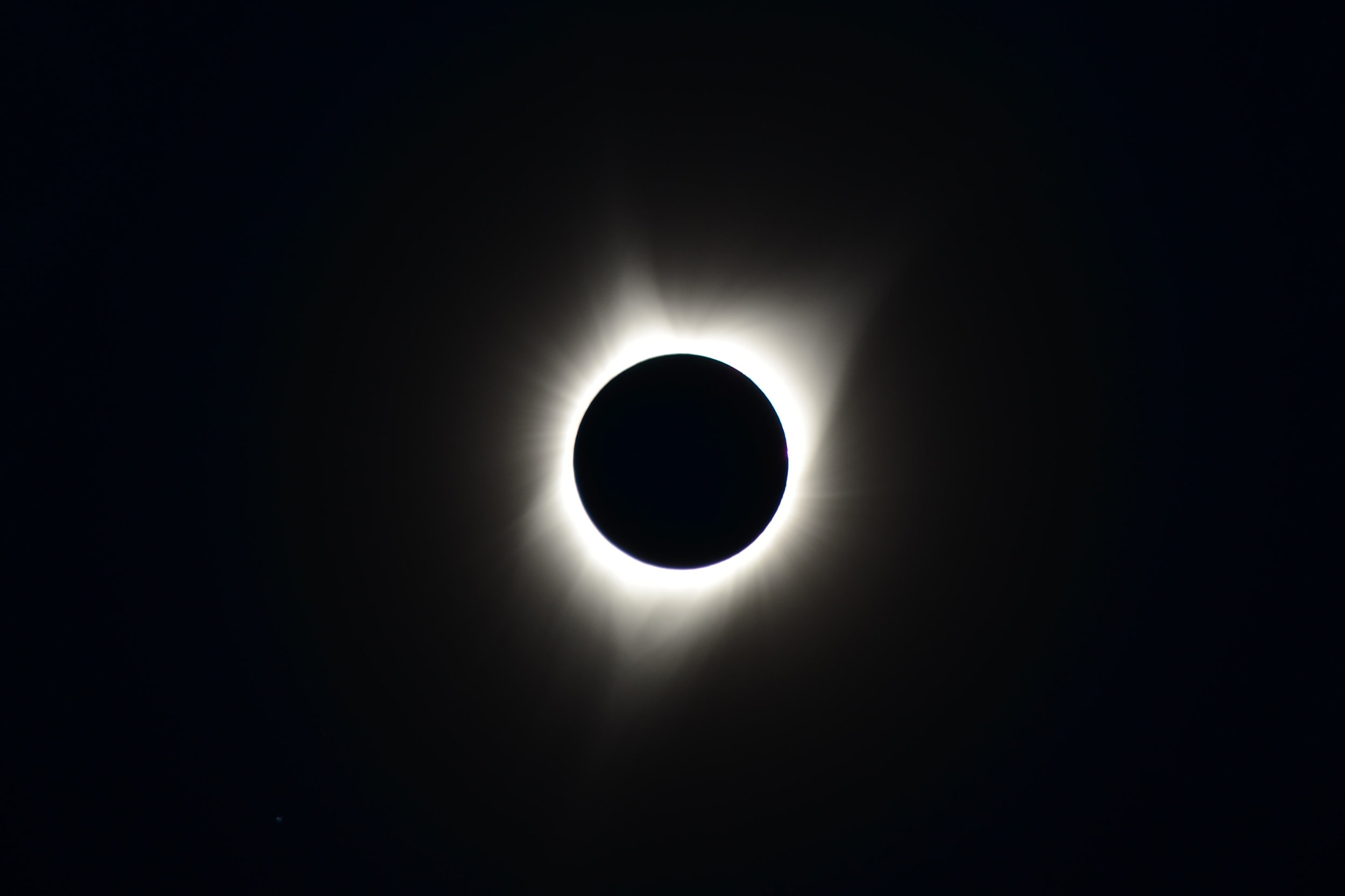 A photo of the total eclipse from Ochoco National Forest in Oregon. Photo © Jim Alan Smith.