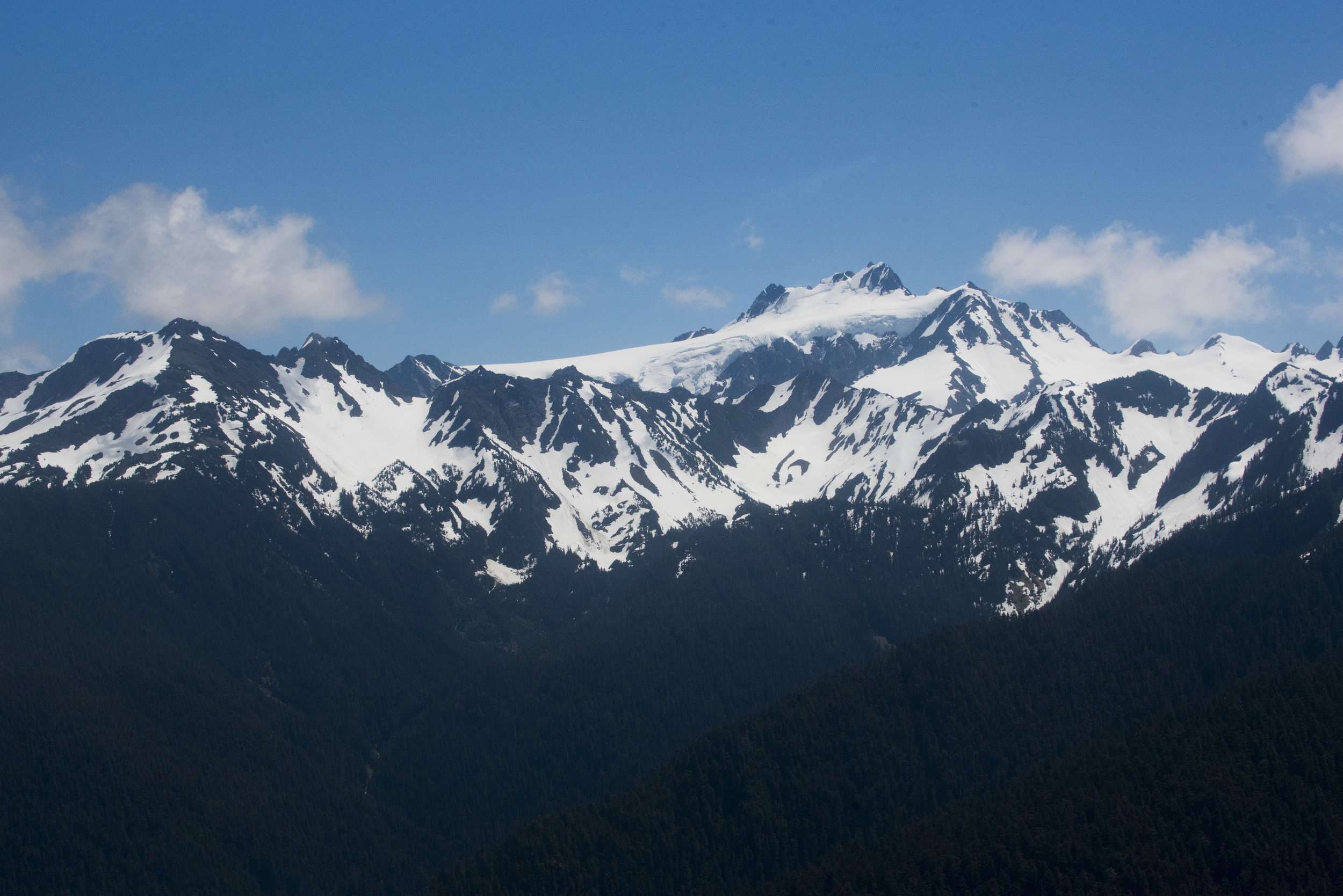 Mount Olympus in the Olympic Mountain Range. Glacier is visible as well. Photo by Hannah Letinich/LightHawk.