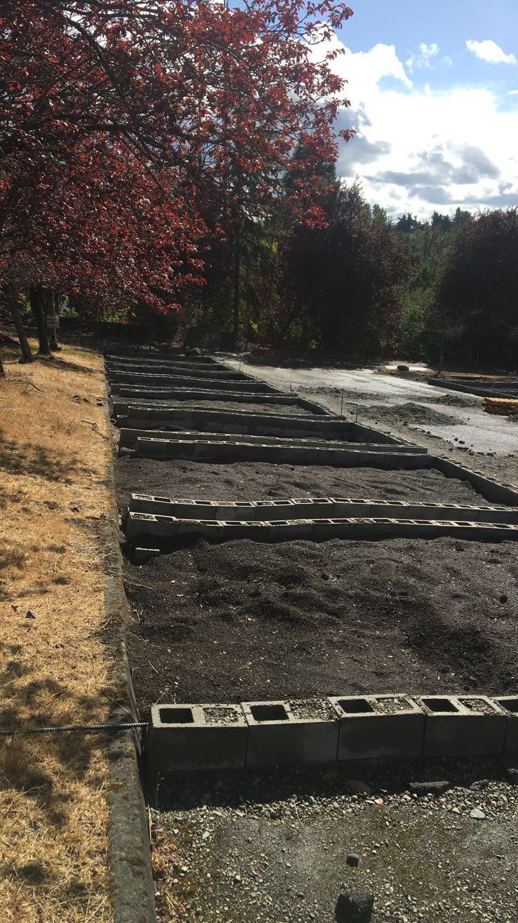 Garden beds at Hillside Paradise Parking Plots Community Garden ready for planting. Photo © Hannah Kett/TNC