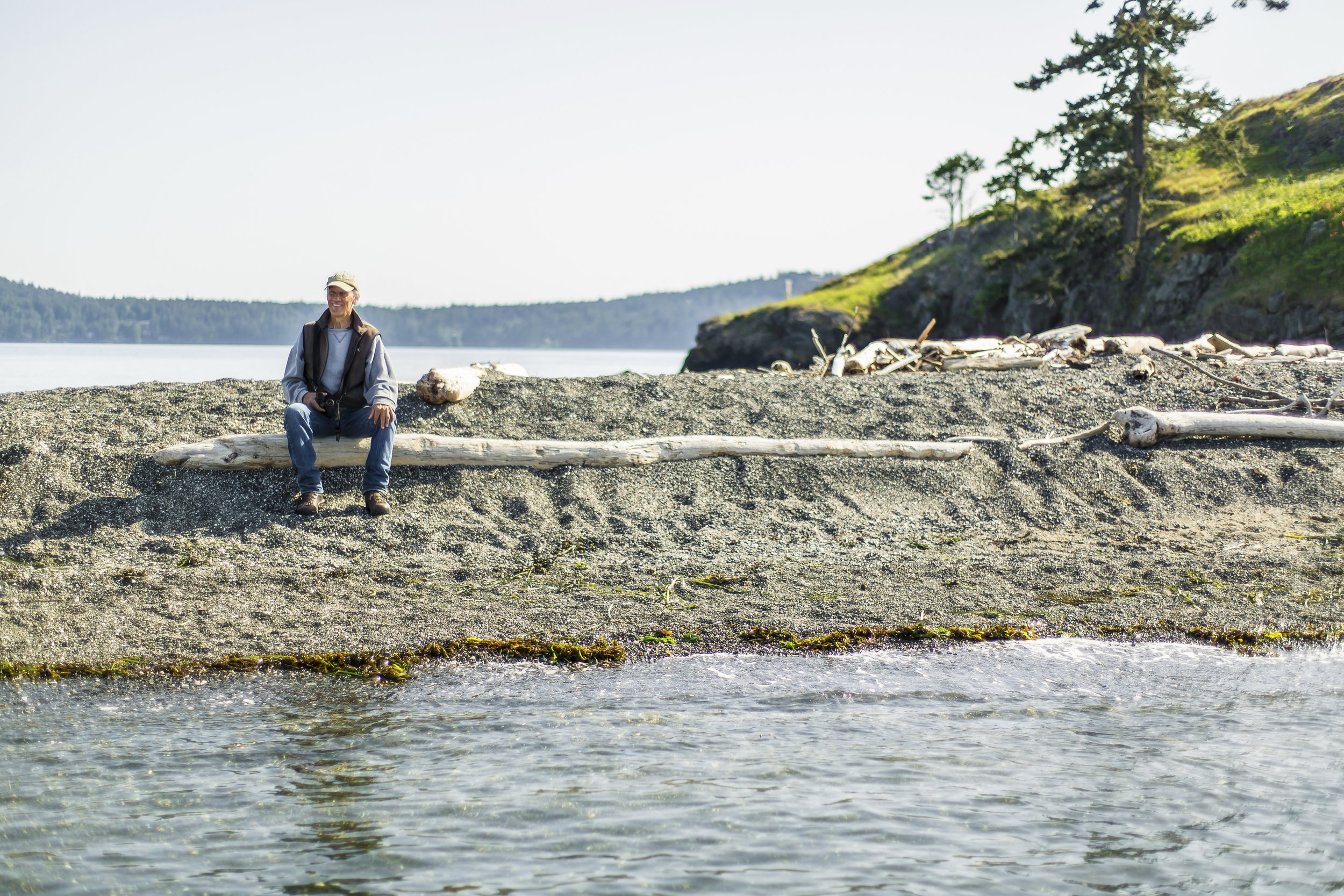 Phil Green is the steward of The Nature Conservancy's Yellow Island preserve. Photo by Cameron Karsten