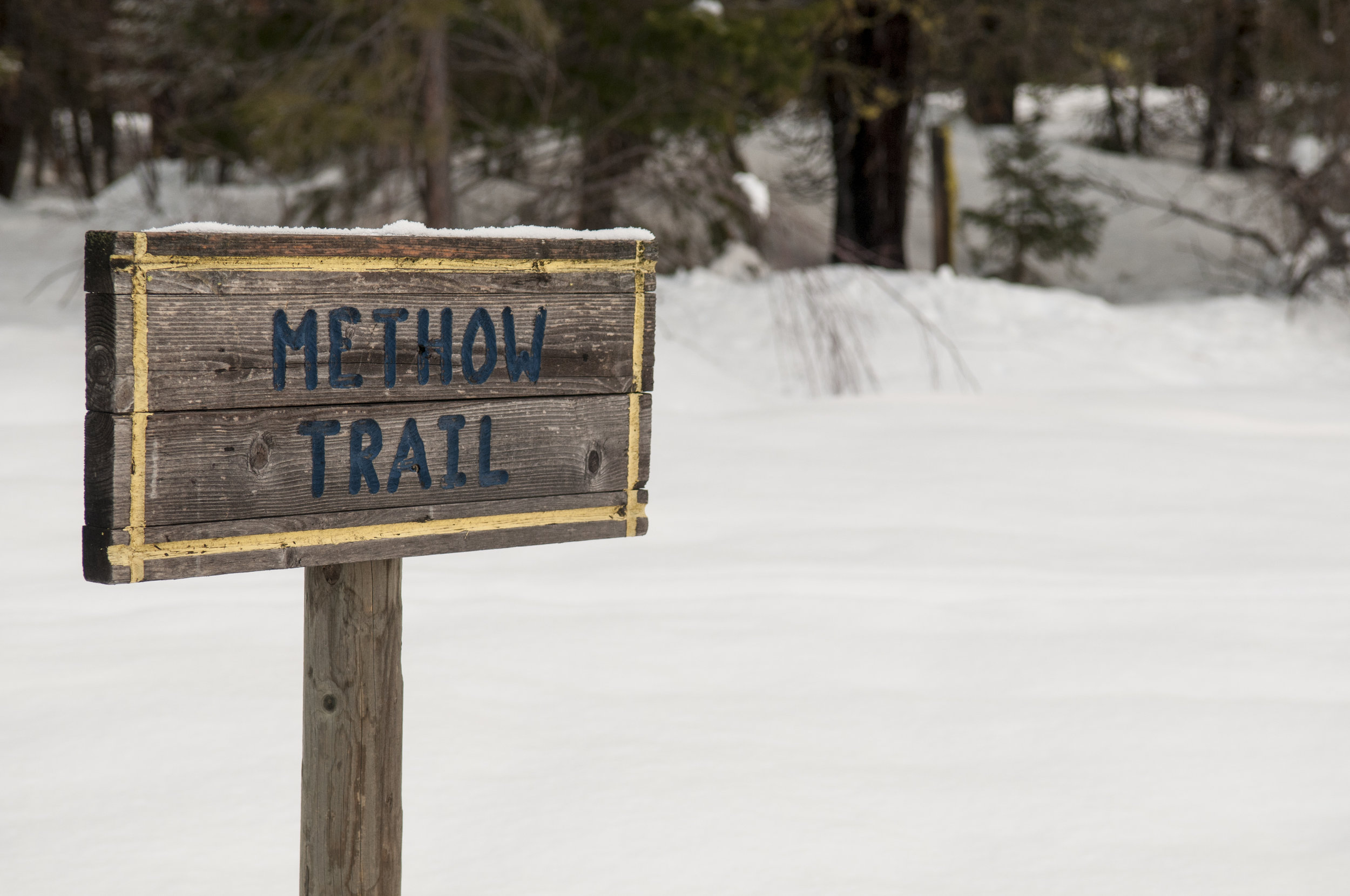 Methow Trail signage. Photo © Nikolaj Lasbo / TNC