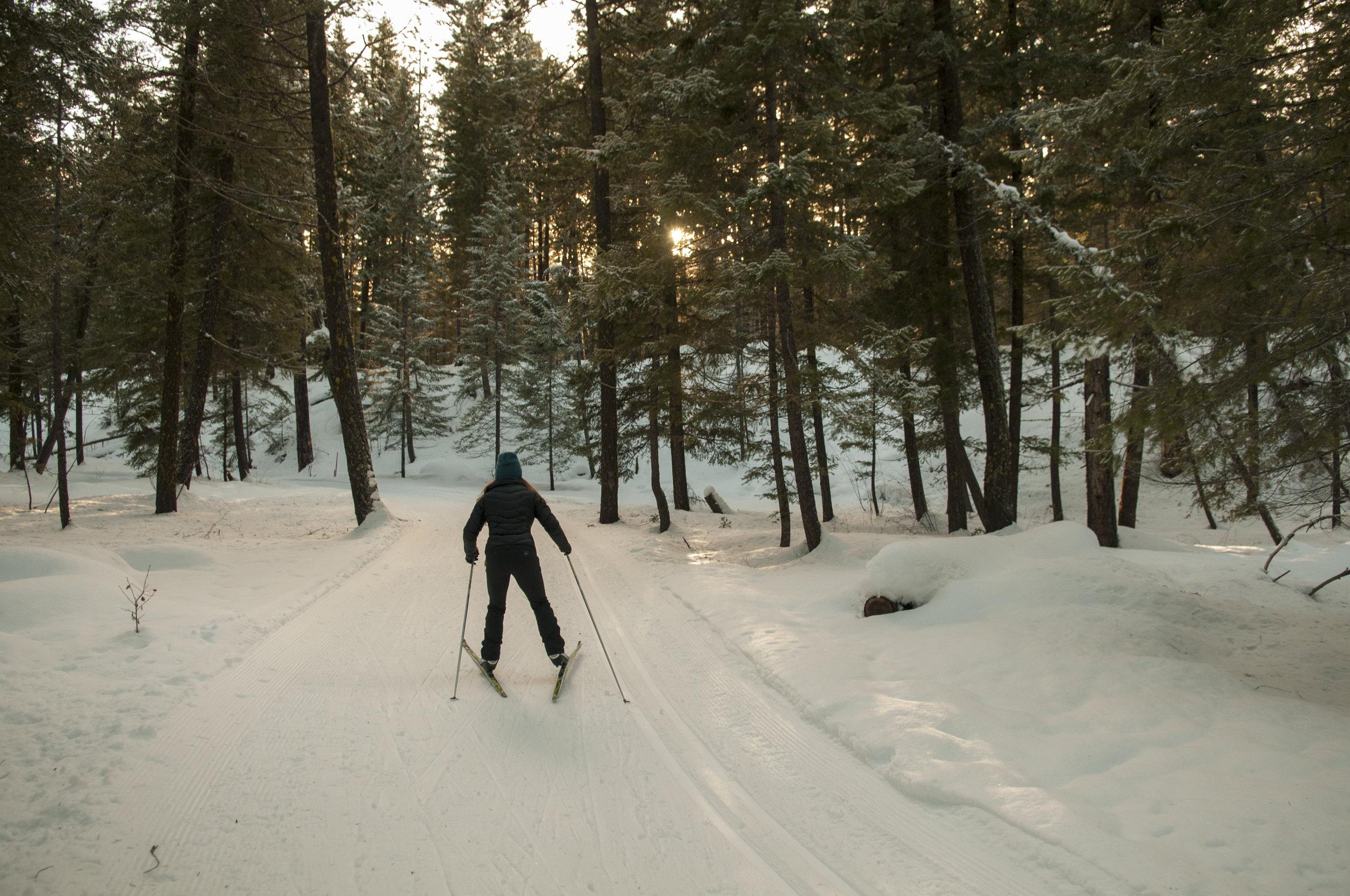 On our way back to the trailhead on the last day of skiing. Photo © Nikolaj Lasbo / TNC