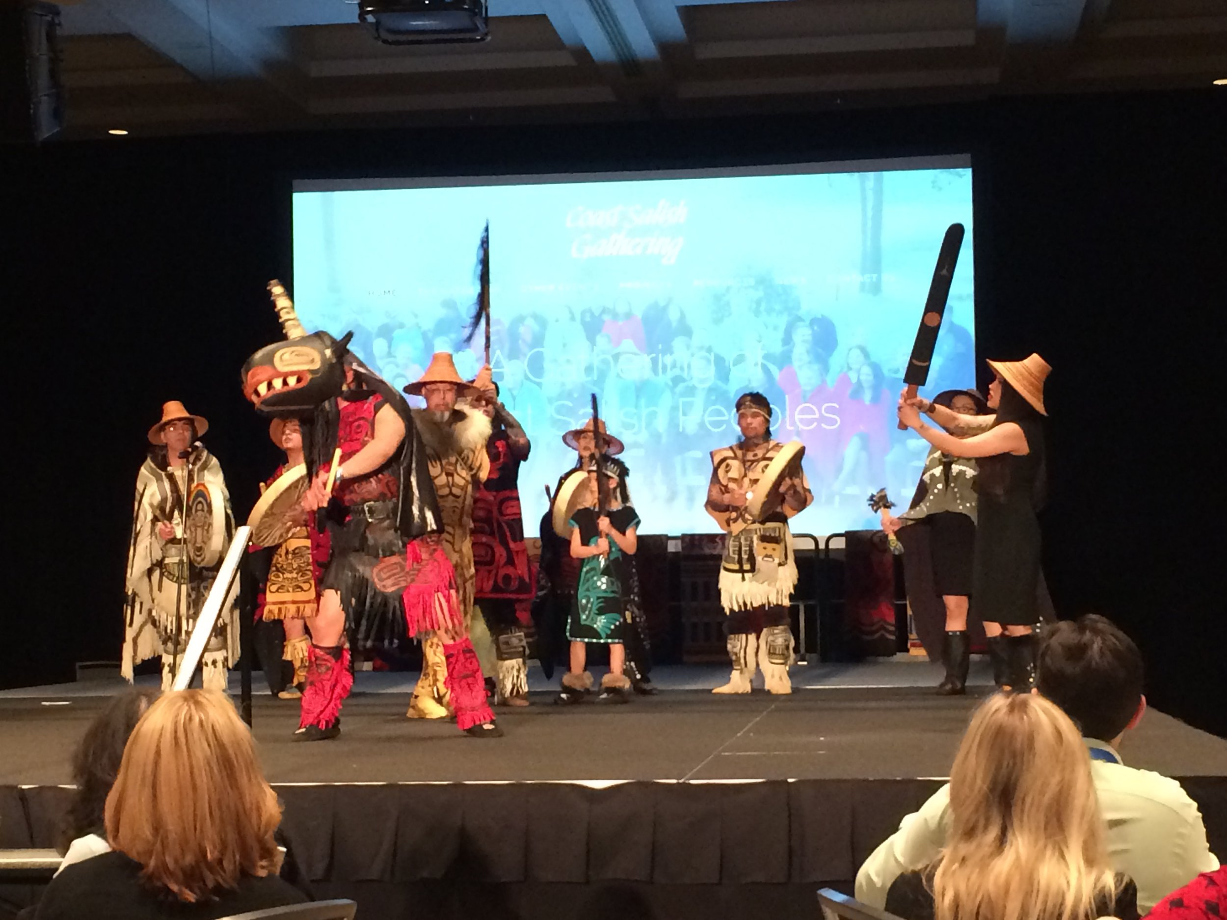 The Tlingit-Haida intergenerational dance group.