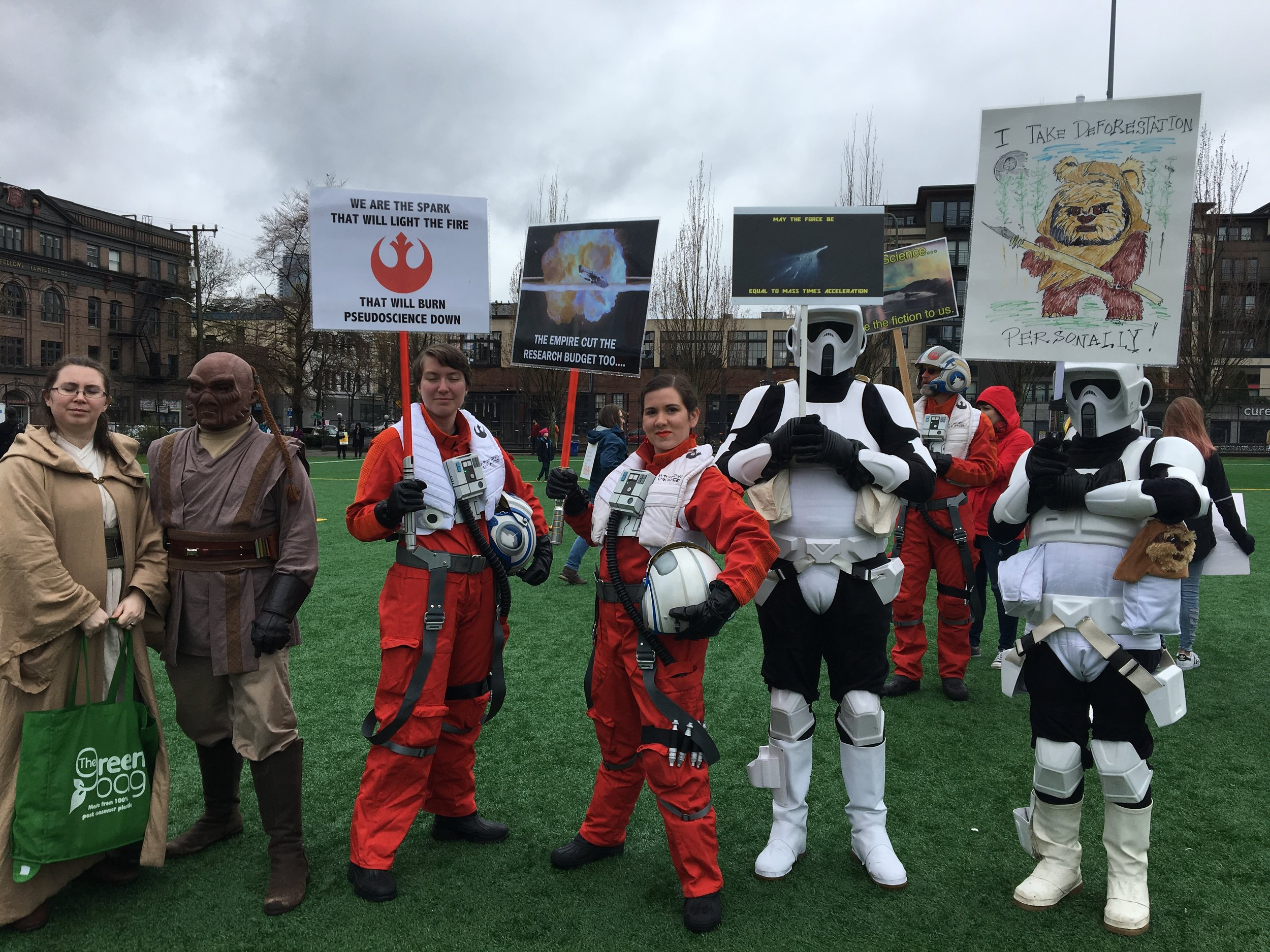 Science even brings the rebels and the empire together!